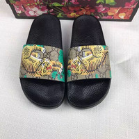 Gucci Fashion Women Sandal Slipper Shoes - Tiger Print