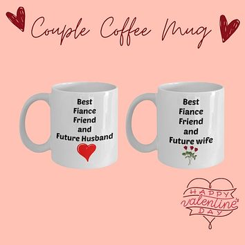 Best Fiance Future Wife Husband coffee mug set for bride and groom to be wedding gift novelty