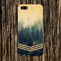 Golden Forest Chevrons x Faded Wood Design Case for iPhone 6 6 Plus iPhone 5 5s 5c iPhone 4 4s Samsung Galaxy s5 s4 & s3 and Note 4 3 2
