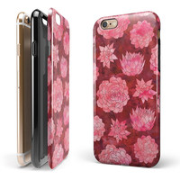 Red Floral Succulents iPhone 6/6s or 6/6s Plus 2-Piece Hybrid INK-Fuzed Case