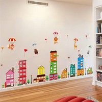 Removable House Vinyl Decor Art Mural Wall Stickers Decal Kids Baby Nursery Room