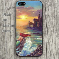 Mermaid boat Castle iphone 6 6 plus iPhone 5 5S 5C case Samsung S3,S4,S5 case Ipod Silicone plastic Phone cover Waterproof