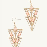 Geo Gem Chandelier Earrings