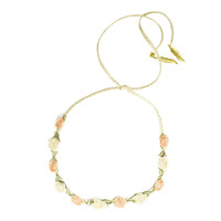 Peach and Cream Marigold/Hemp Band