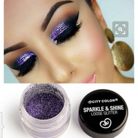 Purple Sparkle & Shine Loose Glitter by City Color