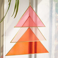 Triangle Glass Wall Hanging | Urban Outfitters