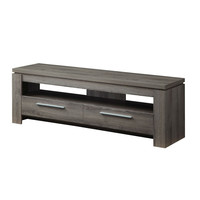 Modern 59-inch Dark Grey Wood Finish TV Stand with Media Storage