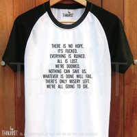Quotes of Fail TShirt - Baseball Tee Shirt raglan Tee Shirts Size - S M L XL 2XL 3XL