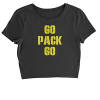 Go Pack Go Green Bay Cropped T-Shirt