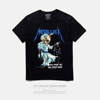 Print Summer Metal T-shirts [10159748039]