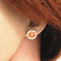 Fashion Sexy Hot Sale Bee And Flower Earrings Flower