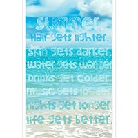 iZERCASE Summer Sun Beach Surfing RUBBER iPhone 5C Case - Fits T-Mobile, AT&T, Sprint, Verizon and International iPhone 5C