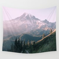Mt. Rainier National Park Wall Tapestry by Andrew Rincon