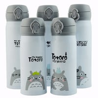 Cartoon Totoro Stainless Steel Vacuum Flasks Creative Thermos Mug My Neighbor Thermol Water Bottle Thermocup Novelty Gifts