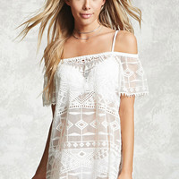 Crochet Embroidered Cover-Up