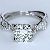 2.42ct G-SI1 Round Diamond Engagement Ring 18kt White Gold   GIA certified