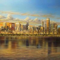 Chicago Skyline by PaintArranger on Zibbet