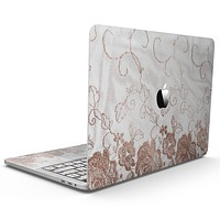 Rose Gold Lace Pattern 4 - MacBook Pro with Touch Bar Skin Kit
