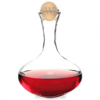 Large Personalized Wine Decanter with Birch Wood Stopper