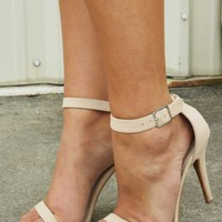 Take A Breath Heels: Nude