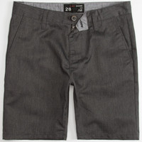 Blue Crown Mens Slim Chino Shorts Heather Grey  In Sizes