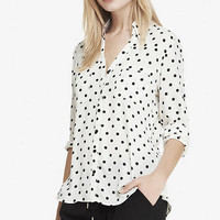 Original Fit Polka Dot Portofino Shirt from EXPRESS