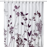 "Reflections 72"" x 72"" Purple Fabric Shower Curtain"