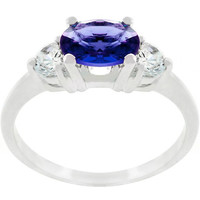Oval Cubic Zirconia Maestro Ring, size : 05