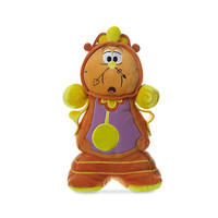 "Disney Store Beauty and the Beast Cogsworth 10"" Small Plush New with Tags"