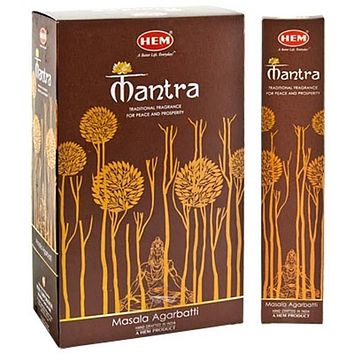 Hem Mantra Masala Incense - 15 Gram Pack (12 Packs Per Box)