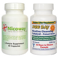 Stop Smoking - Nicotine Craving Suppressant and Toxin Flush Supplements