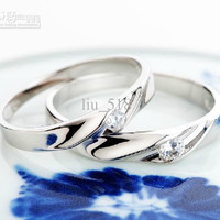925 sterling silver men and women of the rings Wedding Ring Wedding ring diamond ring
