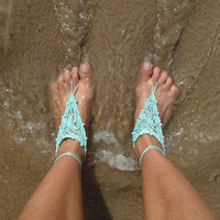 Barefoot Crochet Sandals by SheaBoutique on Etsy