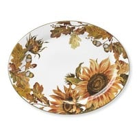Botanical Sunflower Platter