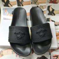 Black VERSACE Fashion Women Sandal Slipper Shoes