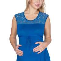 Blue Maternity Tops - True Blue