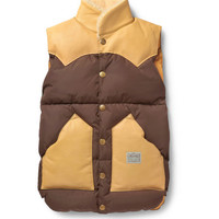 NeighborhoodRocky Mountain Featherbed Shearling-Collar Down-Filled Gilet|MR PORTER