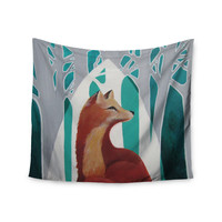"""Lydia Martin """"Fox Forest"""" Wall Tapestry"""