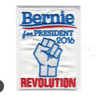 Bernie for President 2016 Revolution Iron On Patch