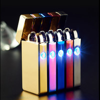The Favorite of  Young People Dual Arc USB Electronic Rechargeable Lighters Cross Flameless Cigarette Lighter