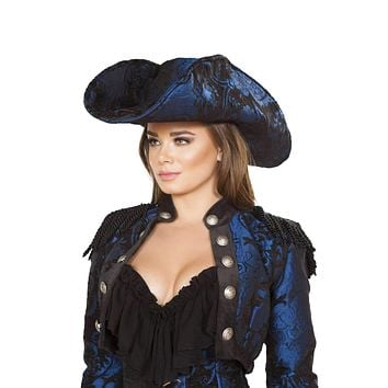 Roma Costume H4652 - Captain Of The Night Hat