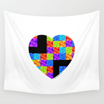 Love Colors The Heart by Sharon Cummings Wall Tapestry by Sharon Cummings