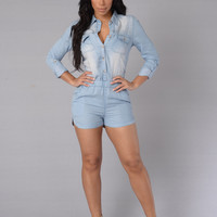 Country Way Romper - Light
