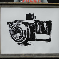 Old Camera Screen Print - 22x28 - Featured in People Magazine