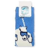 Nite Nite Munki Munki Women's Polar Bear Socks - One Size, Size: OSFM, Blue