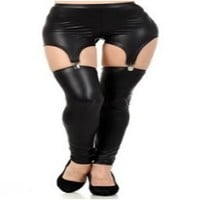 Amour Women Half Faux Leather Front Lycra Back Footless Legging Tregging Tight:Amazon:Clothing