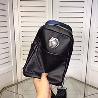 VERSACE MEN'S NEW FASHION LEATHER CHEST PACK BAG CROSS BODY BAG