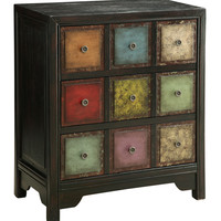 Multicolor Front Three Drawer Chest