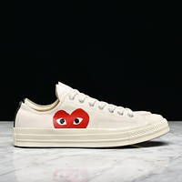 CDG PLAY X CONVERSE CHUCK TAYLOR ALL STAR '70 OX - WHITE