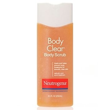 Neutrogena Body Clear Body Scrub, Salicylic Acid Acne Treatment